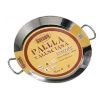50 cm Stainless Steel Induction Paella Pan for 9-14 people