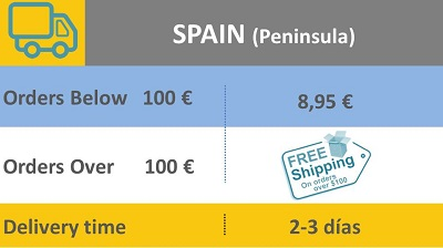 Delivery charges Spain Península