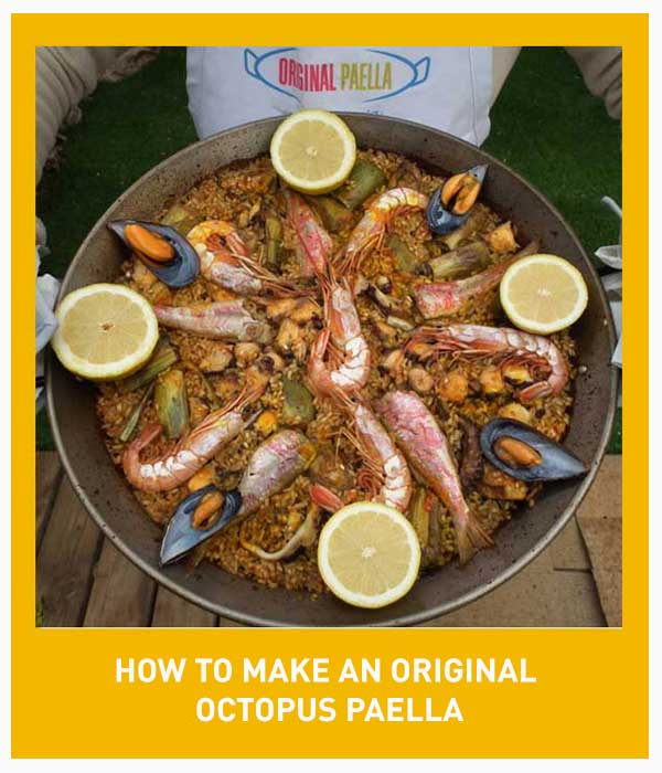Octopus,Red Mullet,Shrimp and Artichokes paella recipe